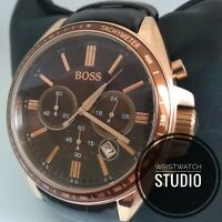 HUGO BOSS MENS DRIVER CHRONOGRAPH WATCH HB1513093  BROWN DIAL LEATHER