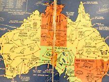 "SUPER RARE c1940's AUSTRALIAN BOARD GAME ""RACE ROUND AUSTRALIA"" BY J MACKINTOSH."
