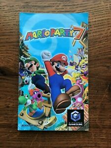 Mario Party 7 Nintendo Gamecube Instruction Manual Only