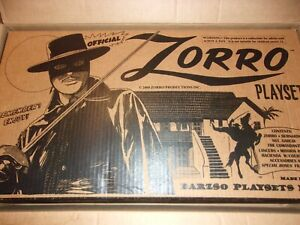 BARZSO ZORRO PLAYSET BOX AND PAPER WORK