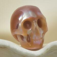 10.85 mm Human Skull Bead Carving Natural Bronze Freshwater Pearl 1.11 g drilled