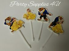 Disney Beauty & The Beast Cupcake toppers/food/Party/Birthday/cake/Belle