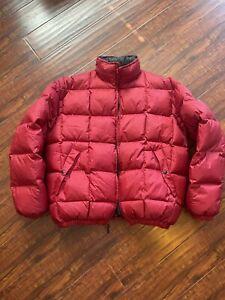 Vintage Polo Sport Puffer Jacket Red Mens Medium Ralph Lauren 90's Hip Hop Y2K