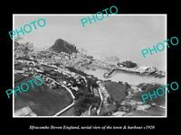 OLD LARGE HISTORIC PHOTO OF ILFRACOMBE DEVON ENGLAND, THE TOWN & HARBOUR c1920