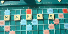 SCRABBLE MAGNETIC SPARE LETTER TILE TRAVEL GAME GREEN & CREAM 99P EACH NOT A SET