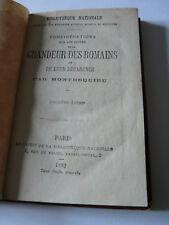 considérations sur les causes de la grandeurs des romains par montesquieu