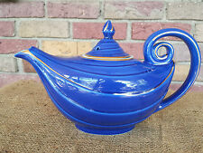 Beautiful Vintage Hall Pottery 6 Cup Tea Pot Cobalt Blue Art Deco Aladdin Genie