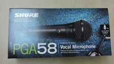 Shure PGA58-QTR Vocal Microphone Cardioid Dynamic On/Off W/15ft XLR-QTR Cable