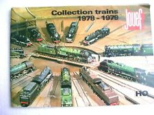 Catalogue JOUEF - Collection Trains 1978-1979