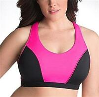 NWT SPORT BY CACIQUE LANE BRYANT RACER BACK SPORTS BRA WIRE FREE SZ 40C