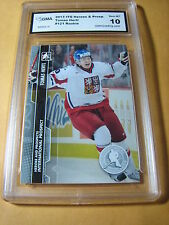 TOMAS HERTL SHARKS 2013 ITG HEROES AND PROSPECTS # 121 ROOKIE RC GRADED 10