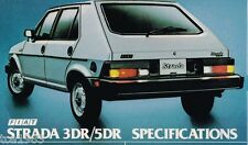 1981 Fiat STRADA Brochure / Poster with Specifications, Fuel Injection