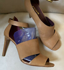 New COACH Ankle Strap Leather Heels 8
