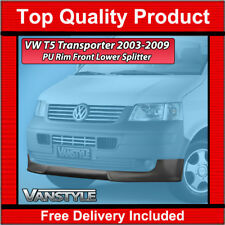 VW TRANSPORTER T5 FRONT LIP SPOILER SPLITTER 2003-09 PU RIM NOT CHEAP FIBERGLASS