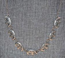 """KALEVALA KORU KK Finland Sterling Silver 925 """"BEAR"""" Necklace 15.75""""- 17.75"""""""