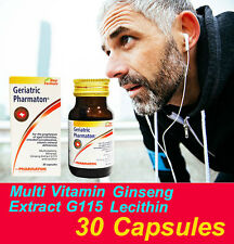 30 CAPS GERIATRIC PHARMATON MULTI VITAMINS MINERAL GINSENG G115 PROPHYLAXIS AGE