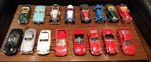 Burago Model Cars 1:18, Used Collection of 16, Unboxed