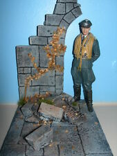 120mm  Ruined wall diorama 1/16 Scale military model vignette