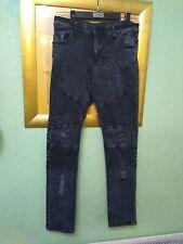 Systvm Men's Dark Blue Biker Jeans Size 31R