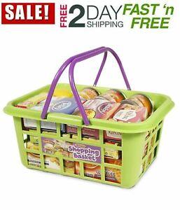 Casdon Kids Shopping Basket Food Grocery Childrens Pretend Play Toy