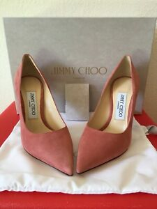 Jimmy Choo Love 100 Rosewood Suede Pumps. Size 5.5 / 35.5 $625.00