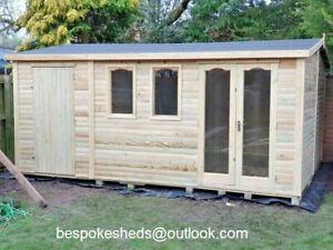 14x8 summerhouse garden room shed workshop log cabin combi shed man cave apex