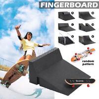 Mini Skate Park Ramp Parts Tech Decks Wooden Fingerboard Finger Skateboar