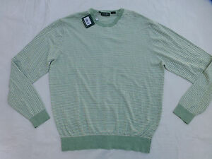 NWT MENS BOBBY JONES CREW NECK SWEATER $195 JADE BJ147205