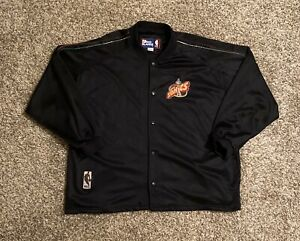 VTG Seattle Supersonics Pro Player Snap Warm Up Jacket 2XL Black Embroidered