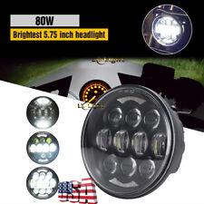 "2019 New Brightest 80W 5-3/4"" 5.75"" Osram LED Projector Headlight for Motor Bike"