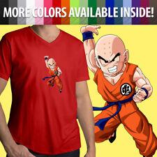 Krillin Dragon Ball Z Super Fighter DBZ Attack Kuririn Mens Tee V-Neck T-Shirt