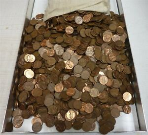 6,000 Lincoln Memorial 95% Copper Pennies ~ apprx 40LBS ~ Dates Vary - 1959-1982