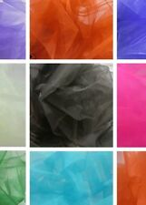 """9XM  Premium Crystal Sheer Organza Fabric Voile Curtain Material 59"""" Wide -"""