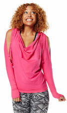 Zumba Cold Shoulder Hoodie Pink S