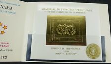 Manama 1970 Eisenhower Kennedy US-Präsidenten Gold Block 54 im Folder MNH