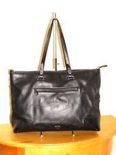 POUR La VICTOIRE Black Leather Large Shoulder Tote Handbag