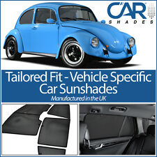 VW Beetle 1964-1971 UV CAR SHADES WINDOW SUN BLINDS PRIVACY GLASS TINT BLACK