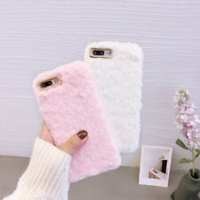 Luxury Warm Faux Plush Fuzzy Fluffy Fur TPU Case Cover For iPhone X 8 7 6 Plus 5