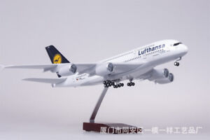 1:160 A380 Lufthansa Airline Airplane Resin Aircraft Collection LED Voice Light