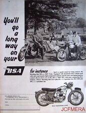 1957 Motor Cycle ADVERT - B.S.A. '500cc Shooting Star OHV Twin' Print AD