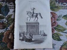 1860 Illustrirte Welt 36 / Stuttgart Eberhardsdenkmal / Rhinozeros / Schloss Pau