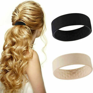 1/2/4PCS Wide Pony Band Clip Wide Pony Hair Band O Hair Tie Band Women Fashion