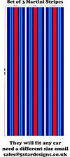 Le Mans Martini Racing style 3 x  Stripes Sticker decal 157 cm x 25 cm A648GG