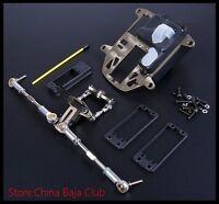 rc part cnc turn symmetric steering set for hpi km rovan 1/5 baja 5b 5t ss