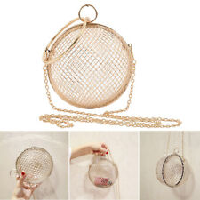 Womens Hollow Metal Crossbody Clutch Cage Bag Evening Wedding Bags Ball Shaped