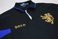 Polo Longsleeve Pullover Ralph Lauren Rugby Lion Löwe Shirt New York Schwarz  M