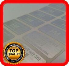 Ihr Logo und Text auf 600 Hologramm Etiketten Garantie Siegel Aufkleber 32x15mm