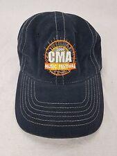2009 CMA Music Festival Hat Black w/Orange Logo Adjustable