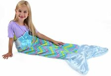 Snuggie Tails - Super Soft Wearable Blanket for Kids, Blue Mermaid