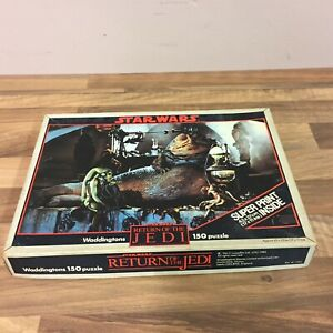 1983 Vintage Star Wars Jigsaw Puzzle by Waddingtons 150 pieces Jabba the Hut